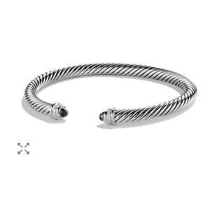 David Yurman Black Onyx Diamond Cable Bracelet